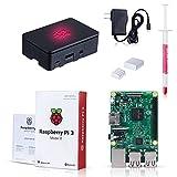 Raspberry Pi 3 Model B Kit with Black Case, Power Supply, Heatsink