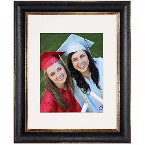 Gold Traditional Frame - Nielsen Bainbridge Artcare 16x20 Tuscan Collection Black and Gold Archival Quality Wood Frame with Single Warm White Mat for 11x14 Image. Includes: UV Glazed Glass and Anti Aging Liner