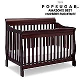 Delta Children Canton 4-in-1 Convertible Baby Crib, Espresso Cherry