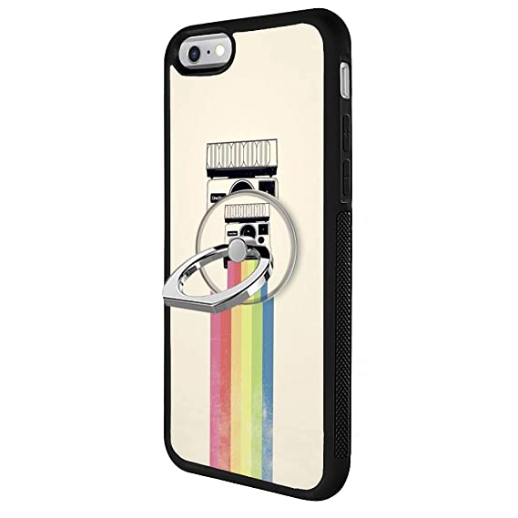 detailed look 29323 cf15d Amazon.com: Odiasnquq Designed Rainbow Polaroid iPhone 6s Plus 6 ...