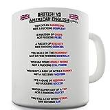 british american mug - Twisted Envy British vs American English Grammar Ceramic Coffee Mug