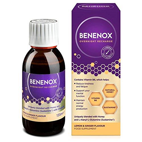 Recharge Lemon (Natures Aid Benenox Overnight Recharge Lemon Ginger Flavour 135ml)