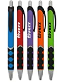 250 Personalized Tropical Colored Duty-Grip Promo Click Pen Printed with Your Logo or Message