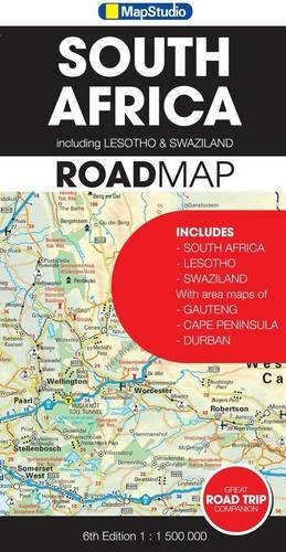 South Africa Including Lesotho & Swaziland MapStudio 1:1.5M...