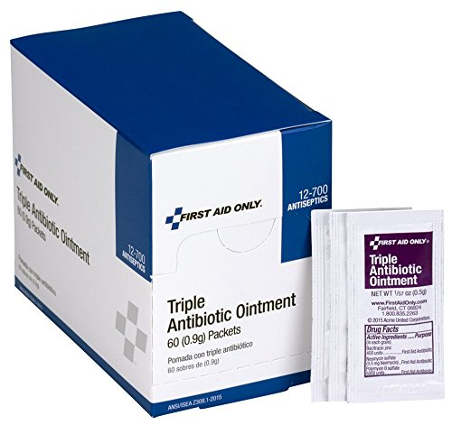 Strength First Aid Antibiotic Ointment - First Aid Only Triple Antibiotic Ointment, 60 Per Box