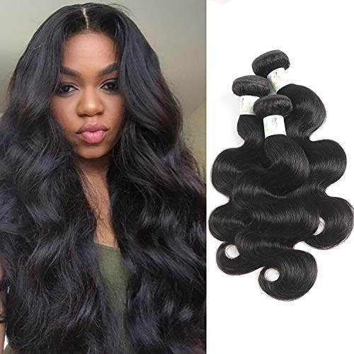Baby Young Hair Brazilian Hair 3 Bundles 18 20 22 inch Body Hair 100% Unprocessed Virgin Human Hair Weaves Natural Black Color Raw Baby Hair Bundles Extension