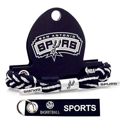 APAYL Basketball Team Wristband Bracelet-Hand-Knitted Adjustable (Black and White)