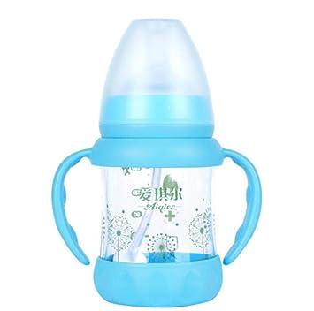 Biberón de bebé - De gran calibre Gel de sílice anticaída Pajita de ...