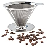 Pour Over Coffee Filter - Stainless Steel Reusable Coffee Maker and Paperless Coffee Dripper