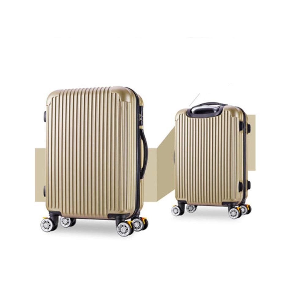 スーツケース   - パスワードロックスーツケース - マット面、万能ホイール、静音、実用的なトロリーケース B07TXJ3G89 ゴールド 22