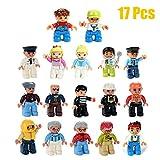 iPuzzle Educational ABS Building Block Creative Stacking Toys Mini Figure Compatible Set 17pcs