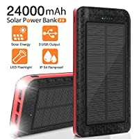 Solar Charger 24000mAh, Portable Phone C...