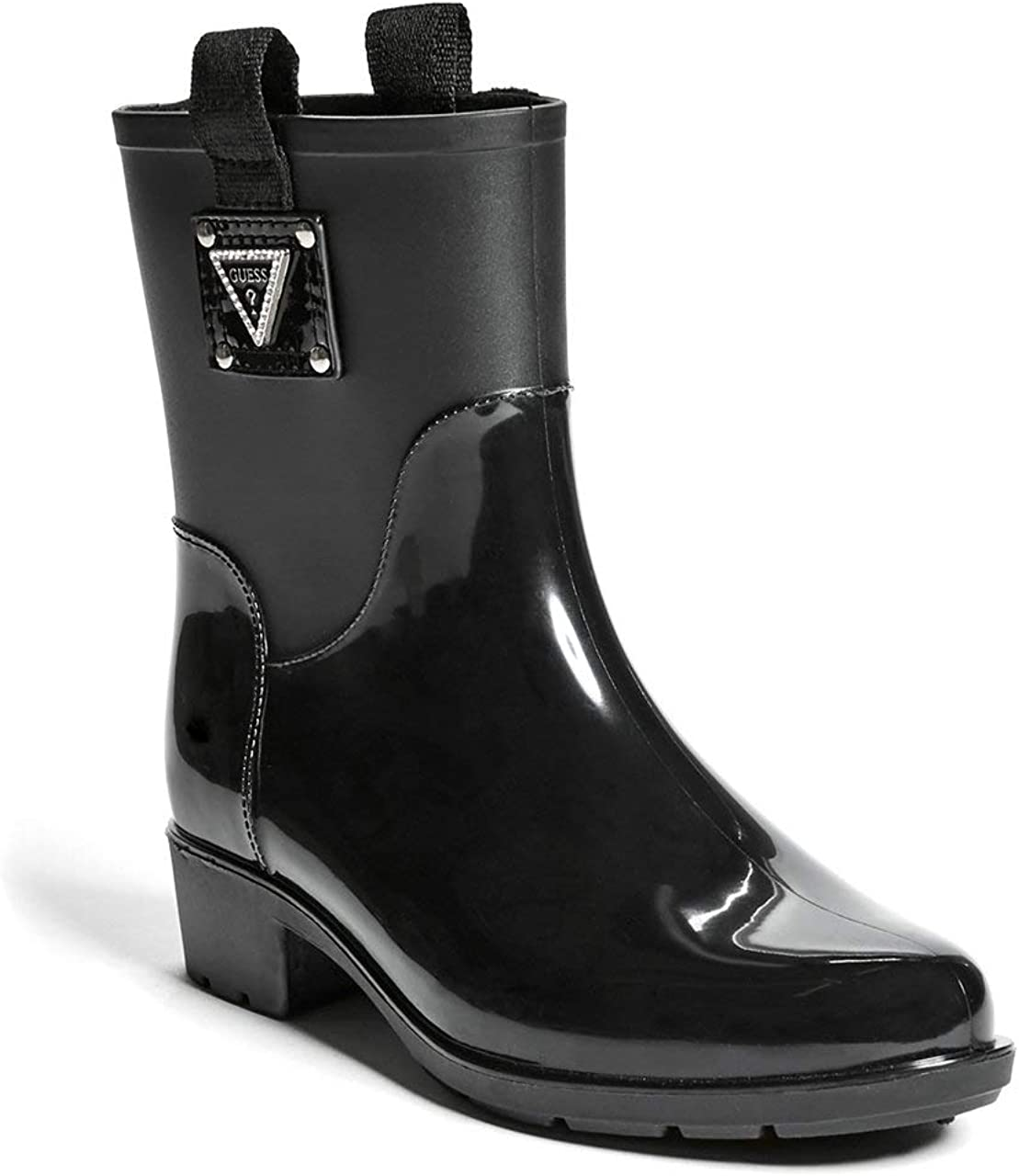 Kine Heeled Rubber Logo Rain Boots