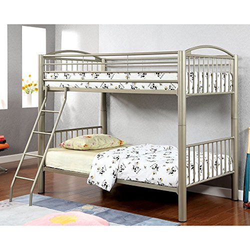 HOMES: Inside + Out ioHOMES Metallic Brillia Bunk Bed, Twin, Metallic Gold