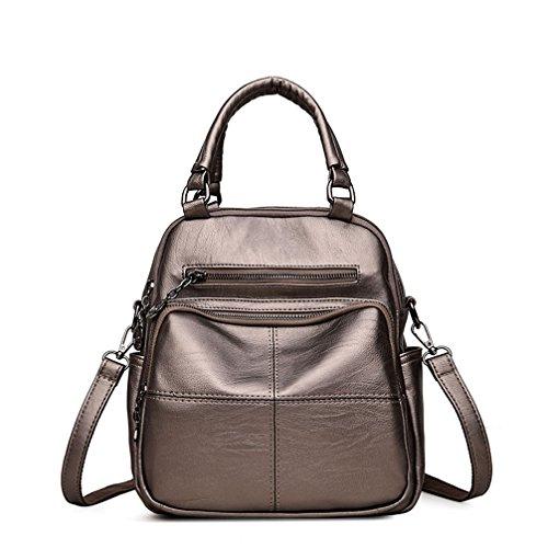 Las marcas de moda mujer mochila de cuero Mochila mochilas mochilas escolares Bronce