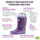 OAKI Kids Rubber Rain Boots with Easy-On