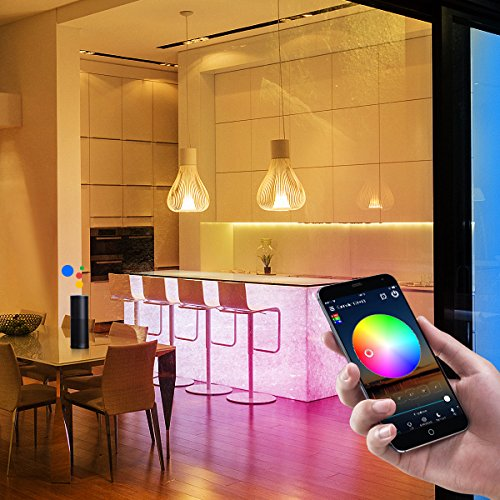 Nexlux WiFi Wireless LED Smart Controller Alexa Google Home IFTTT Compatible,Working with Android,iOS System, GRB,BGR, RGB LED Strip Lights DC 12V 24V(No Power Adapter Included) by Nexlux (Image #5)