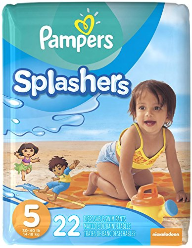 Pampers Splashers Disposable Swim Pants Size 5 22 Count (Packaging May Vary)