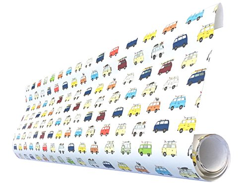 Camper Van Camping Wrapping Paper for these Fun Camping Wrapping Paper And Creative Gift Wrap Ideas