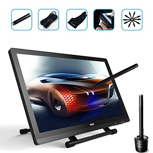 Ugee UG-2150 21.5 Inches LED Graphics Monitor IPS Pen Display HD Resolution Drawing Monitor Dual Monitor with Adjustable Stand, 2 Rechargeable Pens, 1 Drawing Glove, 1 Screen Protector by Ugee (Image #1)