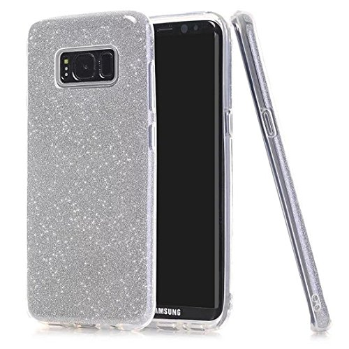 Solobay Samsung Case S8 Plus Samsung S8 Plus Case Transparent And Shiny Hard Back Plastic Crystal Clear Rugged Case Tpu Shock Absorbing Rugged Shockproof Heavy Duty Case  Silver