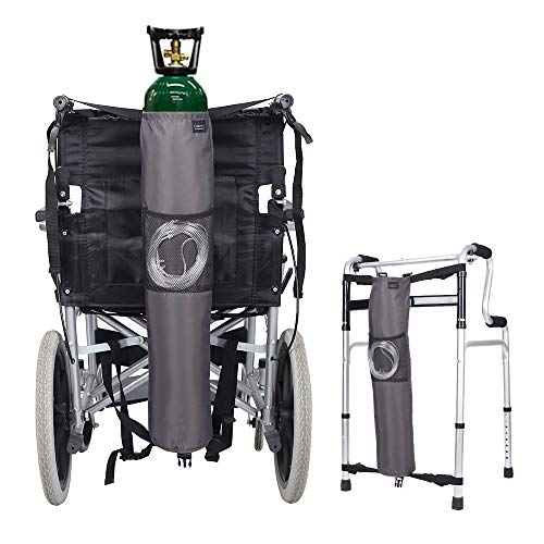 - Oxygen Bag Backpack Holder Wheelchair Walker Portable Oxygen Tank Carrier