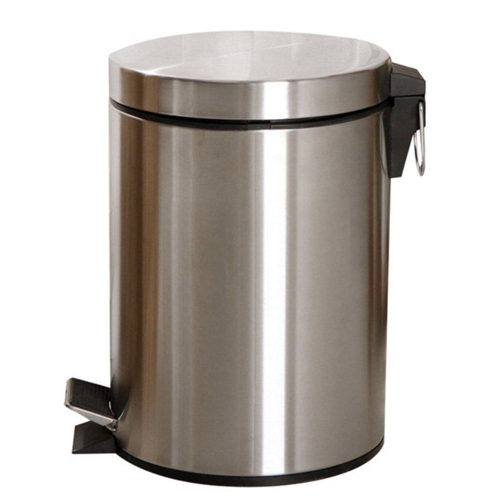 la mejor selección de HL Stainless Steel Trash Can Pedal Continental Home Home Home Living Room Dormitorio Cocina Baño con tapa Office Basura  marcas de diseñadores baratos