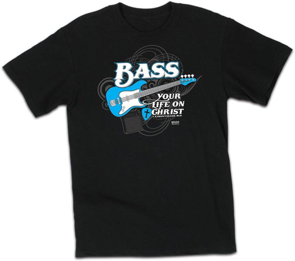 Christian Guitar T Shirt Bass Your Life Design