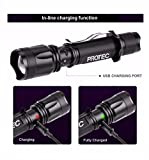 Rechargeable LED Flashlight USB (No better Flashlight at this Price) -  ProTec
