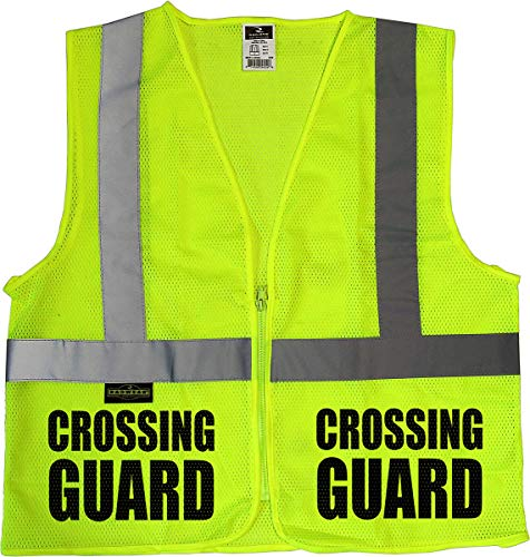 Conspiracy Tee Crossing Guard Mesh Vest, Traffic Safety Vest, School Safety, Municipal - Crossing Vests Guard