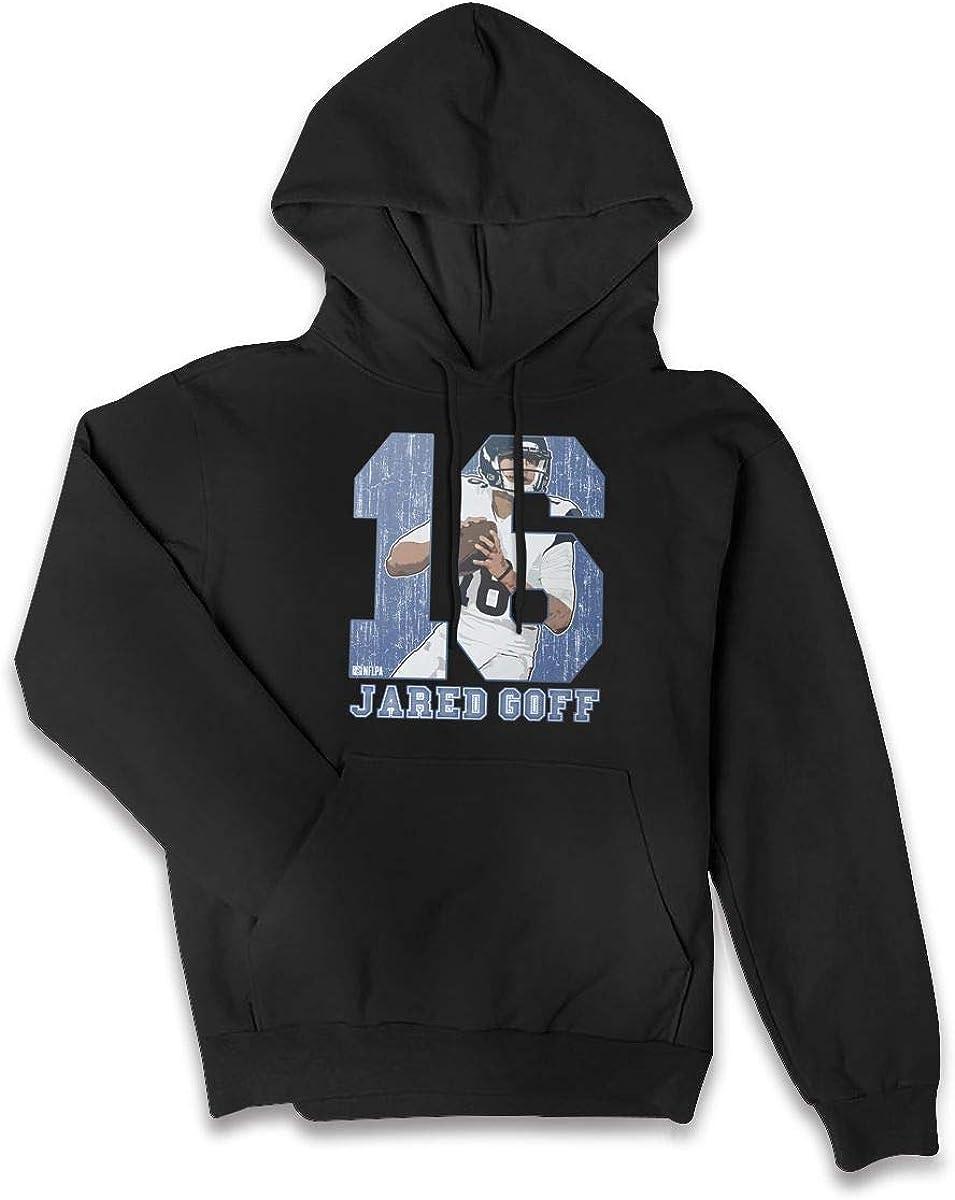 MichaelFrance Womens Leisure Jared Goff Drawstring Pocket Sweater XXL Black