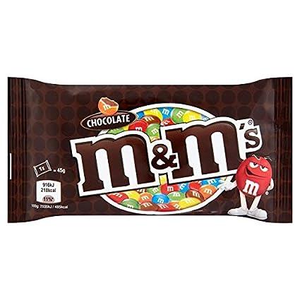 M & M de 45 g de chocolate (paquete de 24 x 45 ...