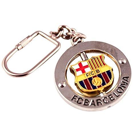 cd93a4e5c3559 Llavero FC Barcelona Escudo Giratorio  Amazon.es  Juguetes y juegos