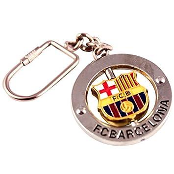Llavero FC Barcelona Escudo Giratorio: Amazon.es: Juguetes y ...