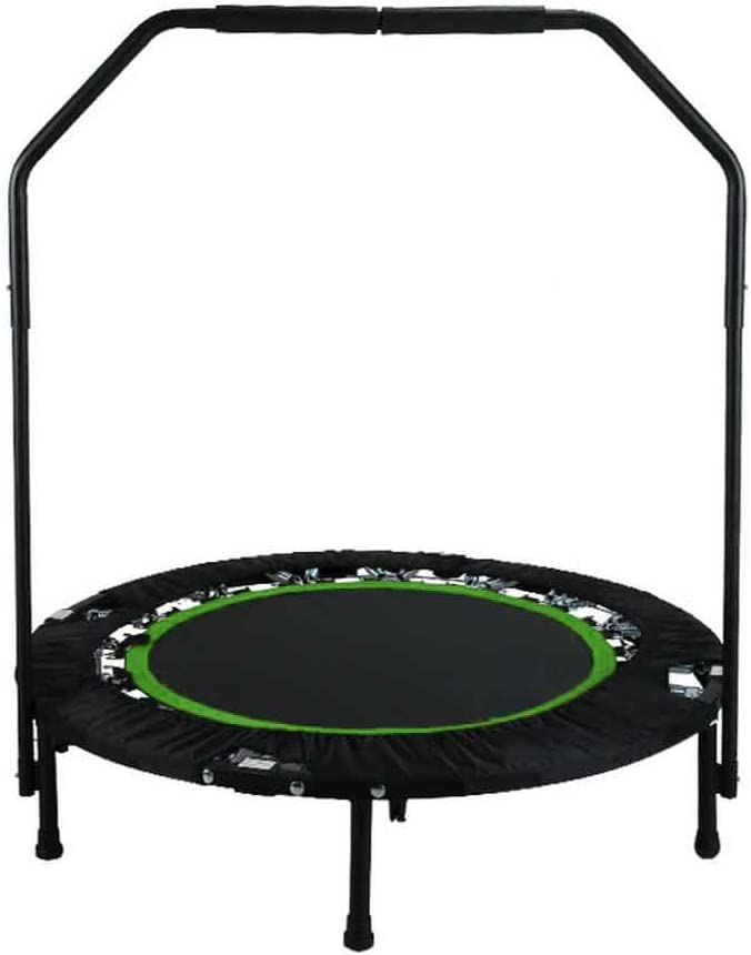 ANCHEER Fitness Exercise Trampoline with Handle Bar, 40 Foldable Rebounder Cardio Workout Training for Adults or Kids Max. Load 300lbs, Zero Stretch Jump Mat