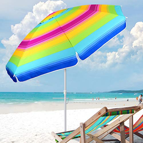MOVTOTOP Beach Umbrella 6.5ft