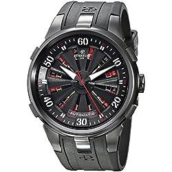 Perrelet Men's A4054/1 Turbine XL Analog Display Swiss Automatic Black Watch