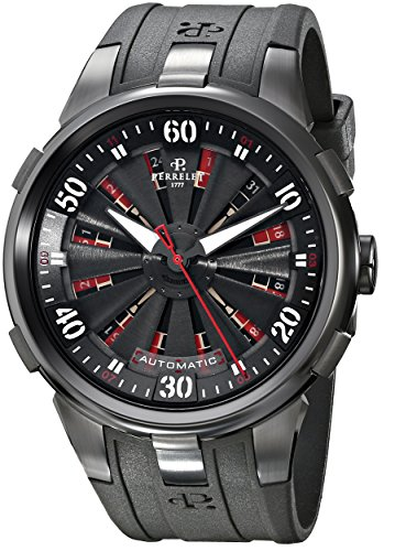 Perrelet-Mens-A40541-Turbine-XL-Analog-Display-Swiss-Automatic-Black-Watch