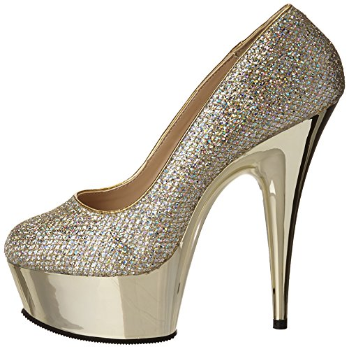 Chrome Pleaser Tacones gold Gold Mujer Delight Gltr Multi 685g WOwq7FB8