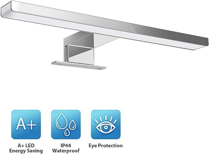 65 opinioni per KINGSO Lampada per Specchio LED Bagno IP44 6W 600lm Lampada per Armadio Specchio