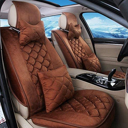 カーカーシートプロテクター用シートカバー カーアクセサリーフルシートクッションセットデラックスエディション車のクッションセットショート豪華な羽毛11ピースセット四季5色選択 カーシートクッションカーシートマット (色 : #33)