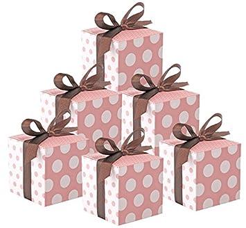 Cajas de regalo para huéspedes, bodas, nacimientos, bautismos o baby showers, 50 unidades, color blanco: Amazon.es: Hogar