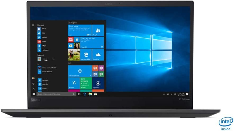 "Lenovo ThinkPad X1 Extreme Business Laptop 20MF000DUS 15.6"" 4K/UHD touch screen, Intel 8th Gen i7-8750H, NVIDIA GTX 1050Ti, 32GB RAM, 1TB PCIe NVMe SSD, Windows 10 Pro"