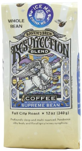 Raven's Brew Whole Bean Resurrection Blend,Full City Roast 12-Ounce Bags (Pack of 2)