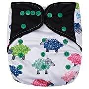 HappyEndings Contoured AI2 All In Two Cloth Diaper / Snap-in Insert  Counting Sheep