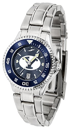 - BYU Cougars Competitor Steel AnoChrome Women's Watch - Color Bezel