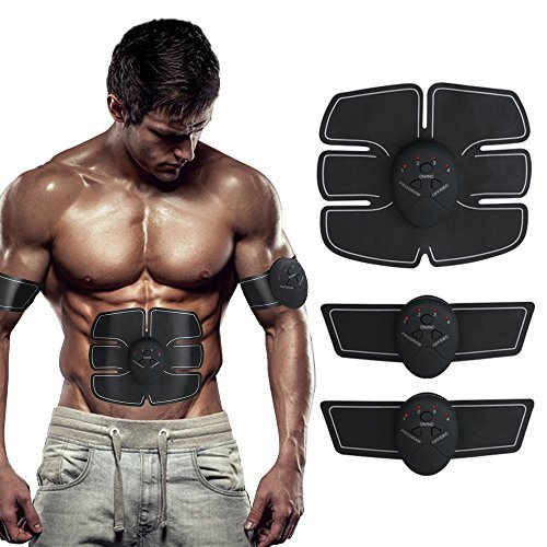 Eon Concepts Muscle Toner Ultimate Abs Stimulator With 10 EXTRA Gel Pads & E-Book | EMS Abdominal Toning Belt For Men & Women | Arm & Leg Trainer | Portable Office, Home & Gym Fitness Equipment by Eon Concepts