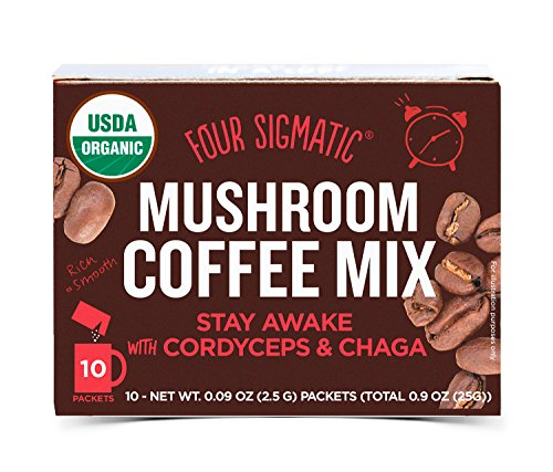 Four Sigmatic Mushroom Coffee with Cordyceps & Chaga, 0.09 Ounce (10 Count) (Four Beverages)