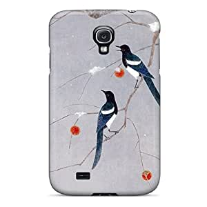Tpu Phone Case With Fashionable Look For Galaxy S4 - Magpies Teng Sticks Annunciation