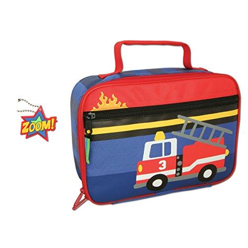 Stephen Joseph Firetruck Lunch Box with Zipper Pull ()